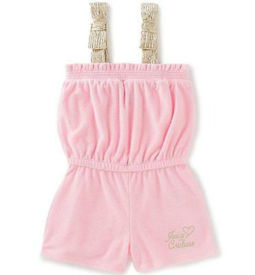 Juicy Couture Toddler/Little Girls Pink Romper Size 2T 3T 4T 4 5 6 6X