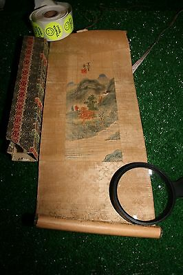 Vintage Chinese Scroll Art Print or painting Signed
