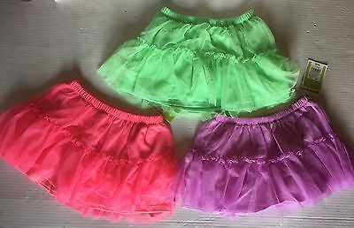 Lot Of 3 girl Toddler Skirt 4T Purple, Pink And Green New With Tags's