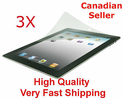 3 Clear Screen Protector For Apple iPad All Models  Premium Ultra Transparent