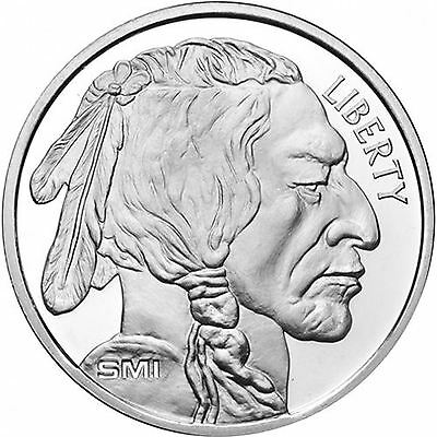 Sunshine Mint Silver Buffalo Round 1 oz Silver Round | Direct From Mint Tube