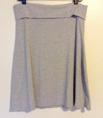 OLD NAVY WOMENS FOLDOVER WAIST STRETCH Gray SKIRT KNEE LENGH SZ L