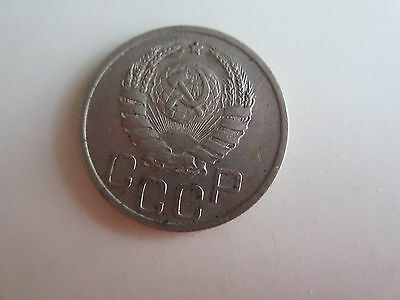 1940 Ussr Russia Copper Nickel 20 Kopeks    (Nice Coin)