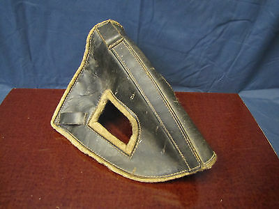 Vintage Leather & Wool Horse Head Guard /Bumper /Cover, for trailering Horses.