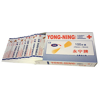 100PC The Family Plaster Band Sterile Haemostasis Stickers First Aid Wound Kits