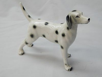 """Vintage signed """"Japan with wreath & clover"""" collectible Dalmation dog figurine"""
