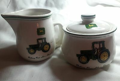 "Cream & Suger Set ""John Deere"" by Gibson"