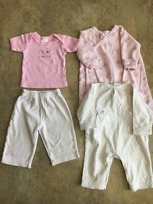Lot Of 4 Baby Girl's Rompers Clothes  Size 3-6 Months