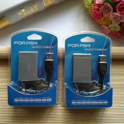 2pcs 2000mah Replacement Li-ion Battery Pack For Sony PS4 Controller LIP1522