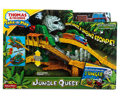 Fisher-Price Thomas & Friends Take-N-Play Jungle Quest Portable Track Set