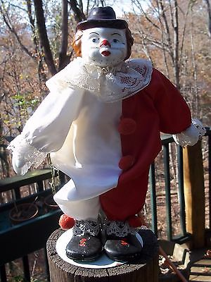 Clown Doll with Painted Metal Head on Frame