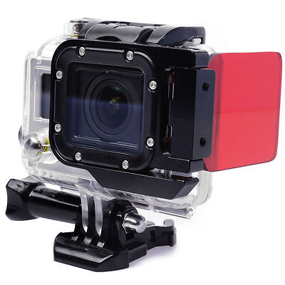 Red Underwater(10-20m) Dive Flip Sea Lens Filter For Gopro HERO 3 LF384