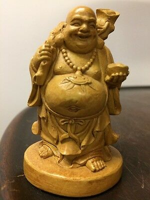 19 Th c Exquisite Goddess  Wood Art Statue Zen antique Hand Carved