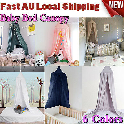 AU Canopy Bed Netting Mosquito Bedding Net Dome Baby Reading Play Tents Cotton Q
