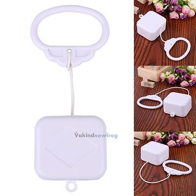 Pull String Cord Music Box White Baby Crib Bed Bell Kids Toy DIY Musica Gifts