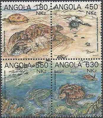 Timbres Reptiles Tortues Angola 899/902 ** année 1993 lot 19392