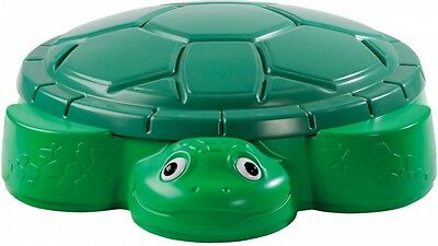 TIKES Turtle Sandpit with Cover Removable Lid 106x25x92cm Children Sand Play NEW