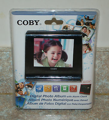 Coby Digital Picture Frame with Alarm Clock Model DP356 Black NEW
