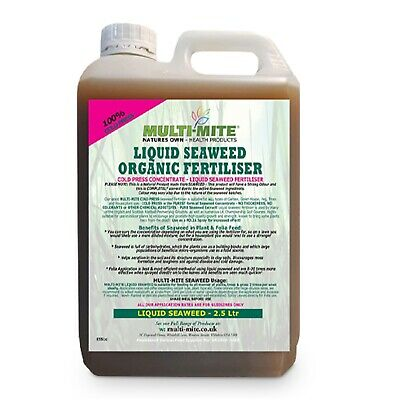 MULTI MITE® 2.5 Litre ORGANIC LIQUID SEAWEED CONCENTRATE LITRE PLANT FEED FOOD