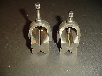 2 Nice Matched Lufkin No. 905 Machinist V Blocks With 2 Clamps