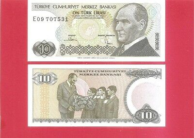 TURKEY p192 - 10 lira L1970 Uncirculated