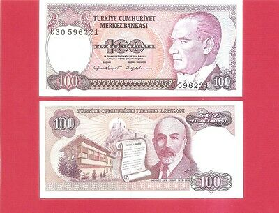 TURKEY p194b - 100 lira L1970 Uncirculated