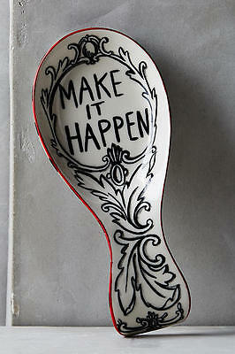 NEW Anthropologie Molly Hatch Sketched Story Make It Happen Spoon Rest Sold Out!