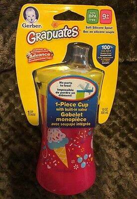 Gerber Graduates 1 Piece Sippy Cup with Silicone Spout 9+ Mo