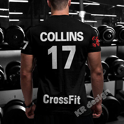 CrossFit Tshirt + YOUR NAME Training Functional Sport Workout Strength Gym WOD