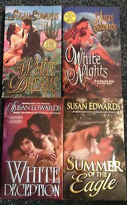 Lot of 4 Paperback Books by Susan Edwards - Historical Romance Fiction