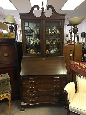 antique secretary desk, Real Mahogany Wood, Very Nice Condition