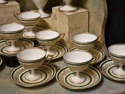 Rare antique French Limoges coffee service CMC – Empire