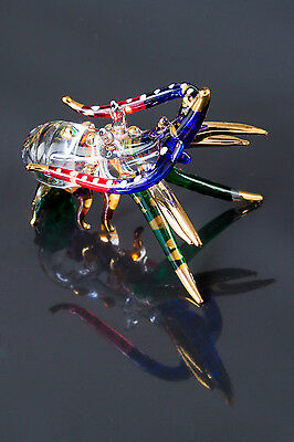 Miniature Crayfish Prawn Hand Blown Clear Glass Craw fish Lobster Souvenirs Gift