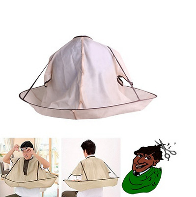 Foldable Hair Cutting Cloak Umbrella Cape Family Barber For Salon Home Hairdress