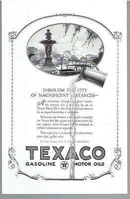Vintage, Original, April 1924 - Texaco Motor Oil Advertisement - Lubricant