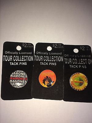 1 Ramones and 2 Doors VINTAGE TOUR COLLECTION OFFICIALLY LICENSED TACK PINS