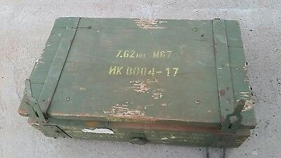 Vintage Russian Military M67 Ammunition Wooden Crate  7.62 Ammo Box. Man Cave.