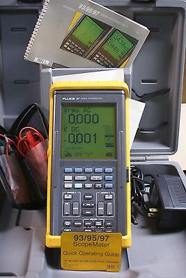 Used Fluke 97 Scope Meter Dual Channel 50 MHz Hand Held Oscilloscope meter