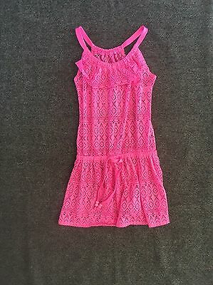 Girls Justice Swim Suit Cover Up Dress Mesh Pink Size 10 HBY1