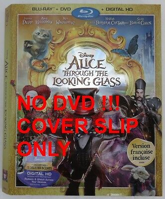 No Discs !! Alice Looking Glass Blu-Ray Cover Slip Only - No Discs !! (Inv13199)