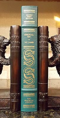 Franklin Library Original Sin by P. D. James  SIGNED 1st Edition