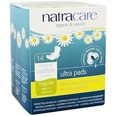 Natracare Natural Ultra Pads with Wings, Regular 14 ea (Pack of 8)