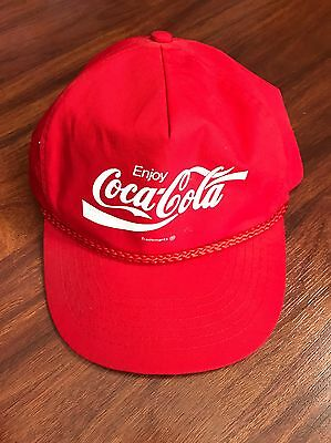 Coca Cola Enjoy Red Snapback Hat Baseball Cap Adult One Size