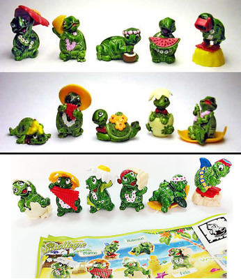 Kinder Surprise Tapsi Turtles Ferrero Cake Topper Figures Tartallegre Turtle Rar