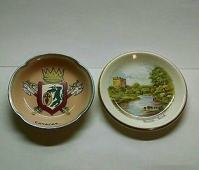 2 Vintage Butter Pats - (1) Johnson Bros. - England  & (I) Arklow - Ireland