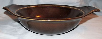 Russel Wright American Modern by Steubenville Black Chutney Round Vegetable Bowl