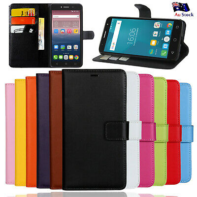 PU Leather Wallet Case TPU Cover For Optus X Smart 4G + Screen Protector
