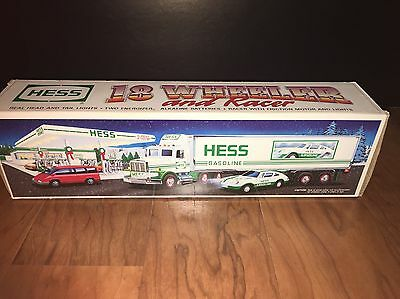 1992 Hess Truck 18 Wheeler and Racer In Original Box