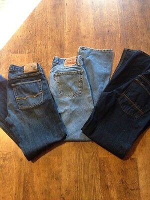 Lot Of Men's Jeans, American Eagle, Levi 505, And Arizona