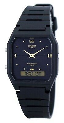 Casio AW48HE-1A Mens Classic Digital Analog Casual Watch Dual Time Black Dial